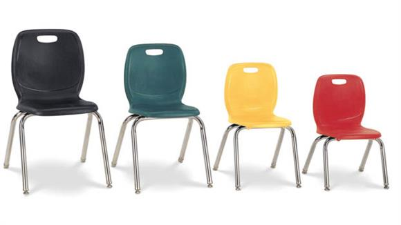 """Stacking Chairs Office Source Furniture 16-1/2"""" Seat Height Student Chair"""