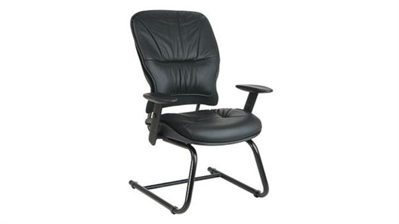 Office Chairs Office Star Sled Base Leather Managers Chair