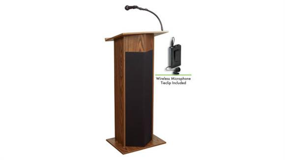 Podiums & Lecterns Oklahoma Sound Power Plus Lectern w/Tie Mic