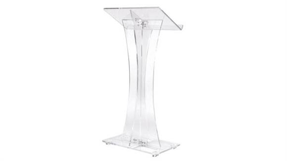 Podiums & Lecterns Oklahoma Sound Acrylic Lectern Curved Style