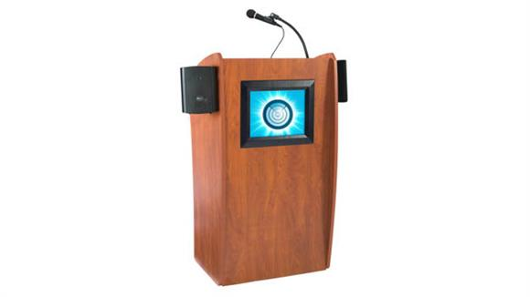 Podiums & Lecterns Oklahoma Sound Floor Lectern With Sound and Digital Display