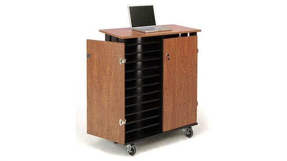 Computer Carts Oklahoma Sound Laptop Charging and Storage Cart