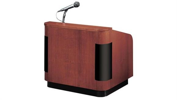 Podiums & Lecterns Oklahoma Sound Veneer Contemporary Table Lectern With Sound and Base