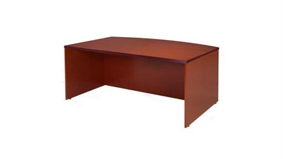 "Executive Desks Rudnick 72"" x 42"" Wood Veneer Bow Front Desk Shell"