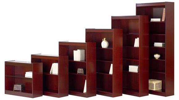 "Bookcases Rudnick 48""H Wood Veneer Bookcase"