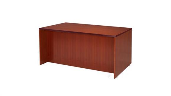 "Executive Desks Rudnick 66"" x 30"" Wood Veneer Rectangular Desk Shell"