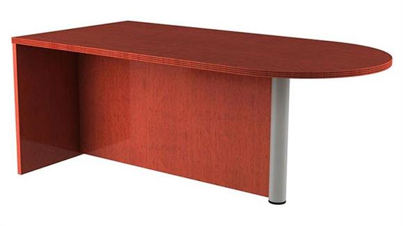 Executive Desks Rudnick Bullet Desk with Metal Leg
