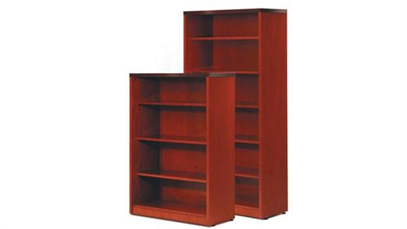 "Bookcases Rudnick 68"" Wood Veneer Bookcase"
