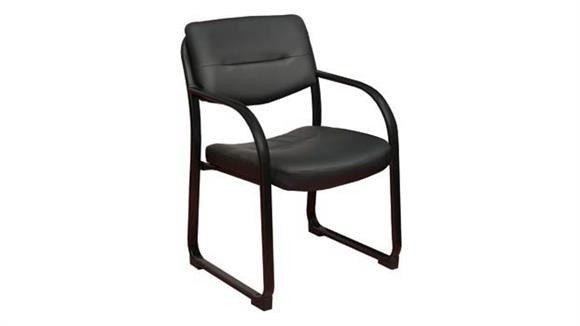 Side & Guest Chairs Regency Furniture Leather Side Chair with Metal Frame