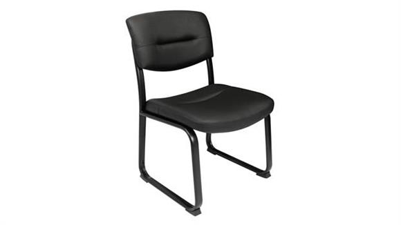 Side & Guest Chairs Regency Furniture Leather Armless Side Chair with Metal Frame