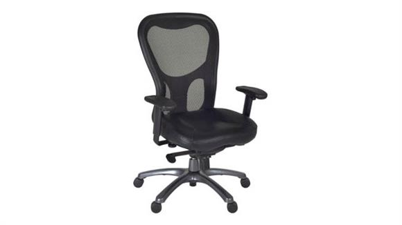 Office Chairs Regency Furniture Citi Executive Leather and Mesh Swivel Chair