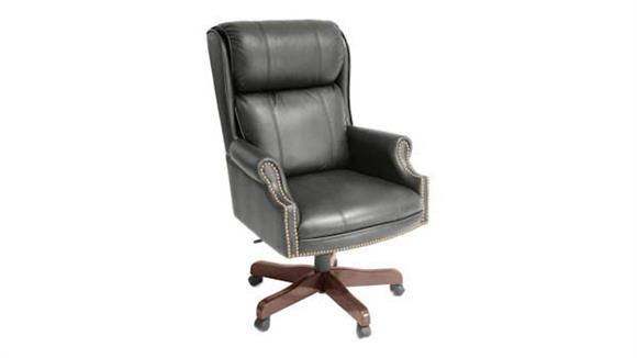 Office Chairs Regency Furniture Traditional Style Leather Judges Chair