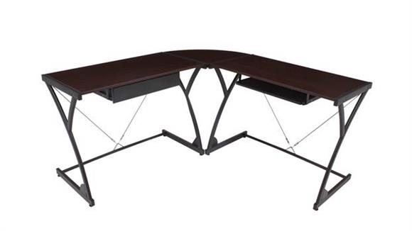Corner Desks Regency Furniture Wood Corner L Shaped Desk