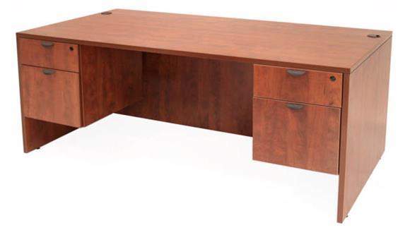 """Executive Desks Regency Furniture 66"""" Double Pedestal Desk"""
