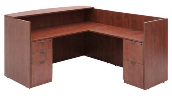 Reception Desks Regency Furniture Box Box File/ File File Pedestal Reception Desk