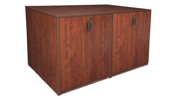 Storage Cabinets Regency Furniture Stand Up 2 Storage Cabinet/ 2 Desk Quad
