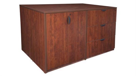 Standing Height Desks Regency Furniture Stand Up 2 Desk/ Storage Cabinet/ Lateral File Quad