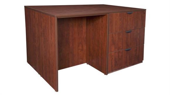 Standing Height Desks Regency Furniture Stand Up Lateral File/ 3 Desk Quad