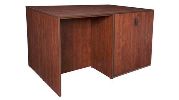 Standing Height Desks Regency Furniture Stand Up Storage Cabinet/ 3 Desk Quad