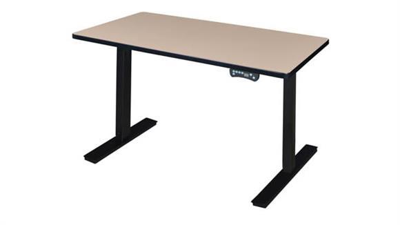 """Adjustable Height Desks & Tables Regency Furniture 48"""" x 24"""" Height-Adjustable Power Desk"""