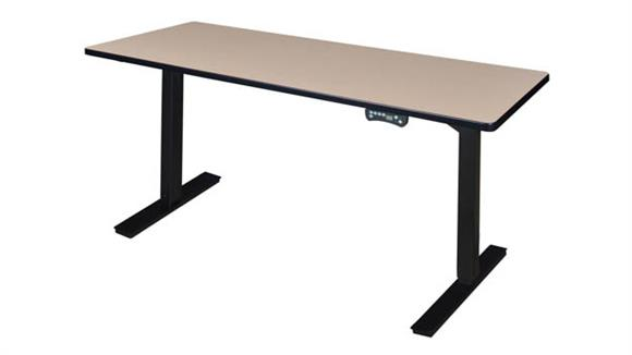 """Adjustable Height Desks & Tables Regency Furniture 66"""" x 24"""" Height-Adjustable Power Desk"""