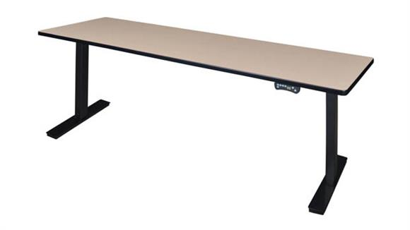 "Adjustable Height Desks & Tables Regency Furniture 84"" x 24"" Height-Adjustable Power Desk"
