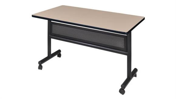 "Training Tables Regency Furniture 48"" Flip Top Mobile Training Table with Modesty"