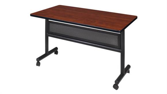 """Training Tables Regency Furniture 48"""" Flip Top Mobile Training Table with Modesty"""
