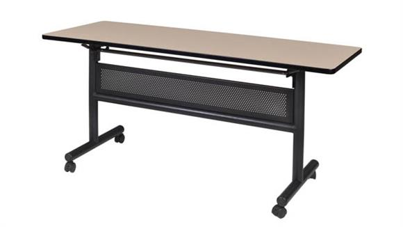 "Training Tables Regency Furniture 60"" Flip Top Mobile Training Table with Modesty"