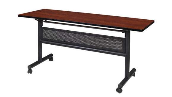 """Training Tables Regency Furniture 60"""" Flip Top Mobile Training Table with Modesty"""