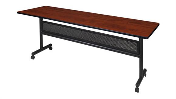 """Training Tables Regency Furniture 84"""" Flip Top Mobile Training Table with Modesty"""