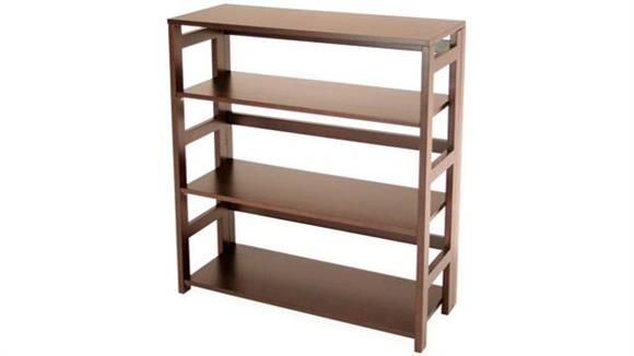 Bookcases Regency Furniture 3 Shelf Folding Bookcase
