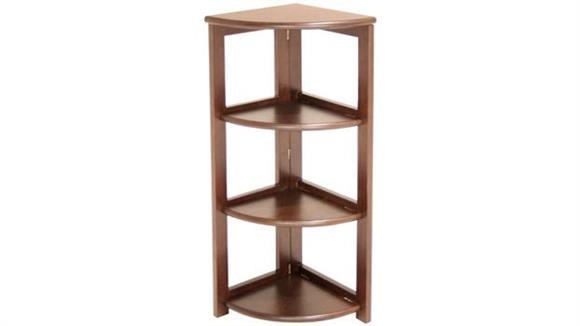 Bookcases Regency Furniture 3 Shelf Folding Corner Bookcase