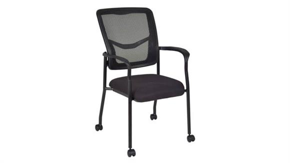Side & Guest Chairs Regency Furniture Kiera Side Chair with Casters- Black