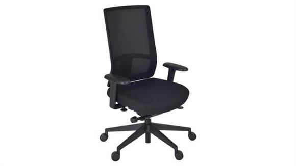 Office Chairs Regency Furniture Patriot Swivel Chair- Black/ Storm