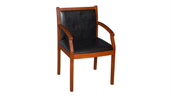 Side & Guest Chairs Regency Furniture Wood and Vinyl Side Chair