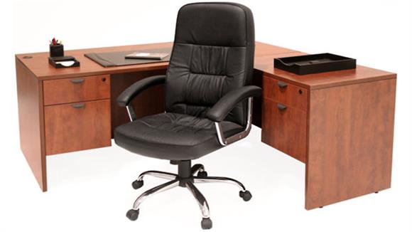 "L Shaped Desks Regency Furniture 66"" x 77"" L Shaped Desk"