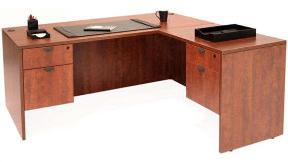 "L Shaped Desks Regency Furniture 66"" x 65"" L Shaped Desk"