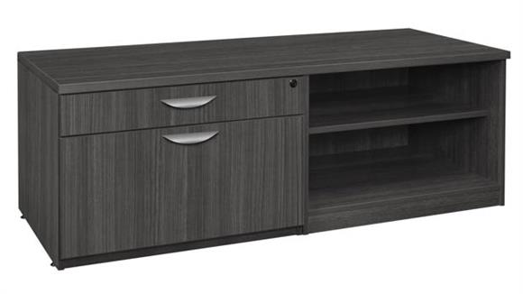 File Cabinets Lateral Regency Furniture Lateral/Open Shelf Low Credenza