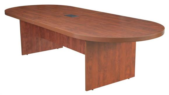 "Conference Tables Regency Furniture 120"" Racetrack Conference Table with Power Data Grommet"
