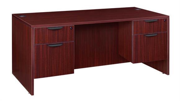 """Computer Desks Regency Furniture 60"""" Double Pedestal Desk"""