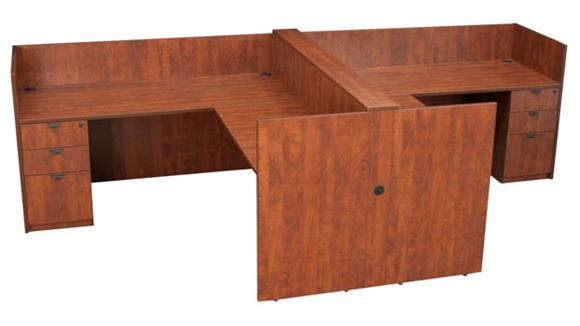 Workstations & Cubicles Regency Furniture 2-Person Single Pedestal Essential Station