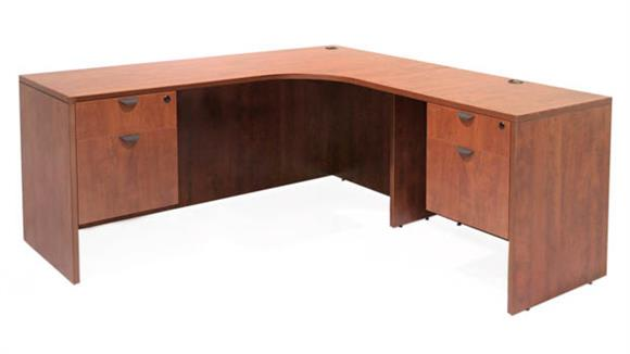 "Executive Desks Regency Furniture 71"" Double Pedestal Right Corner Credenza"