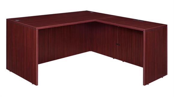 """L Shaped Desks Regency Furniture 72"""" L-Desk Shell with 47"""" Return Shell"""