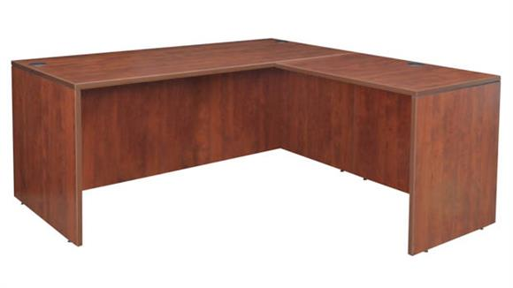 "L Shaped Desks Regency Furniture 71"" L-Desk Shell with 35"" Return Shell"