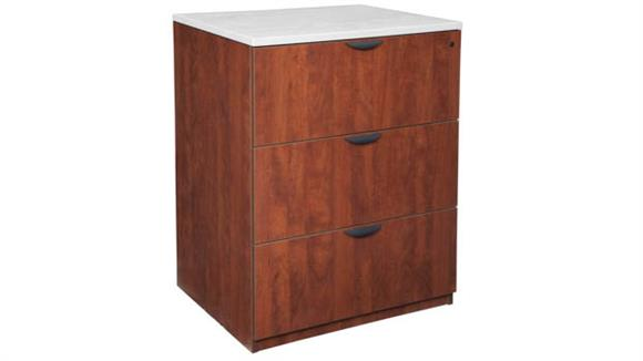 """File Cabinets Lateral Regency Furniture 36""""W Stand Up Lateral File (w/o Top)"""