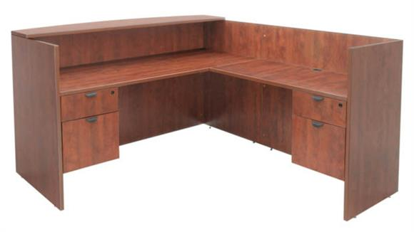 Reception Desks Regency Furniture Double Box File Pedestal Reception Desk