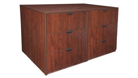 Executive Desks Regency Furniture Stand Up 2 Lateral File/ Storage Cabinet/ Desk Quad