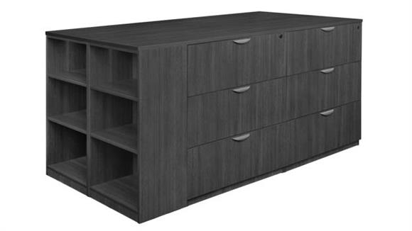 File Cabinets Lateral Regency Furniture Stand Up Lateral File Quad with Bookcase End