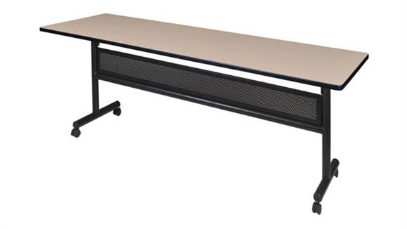 "Training Tables Regency Furniture 84"" Flip Top Mobile Training Table with Modesty"